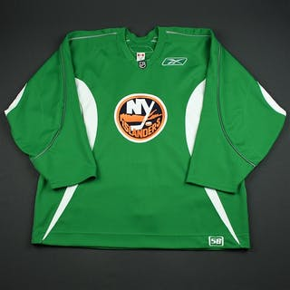 Reebok Edge Light Green Practice Jersey New York Islanders 2006-07 # Size: 58