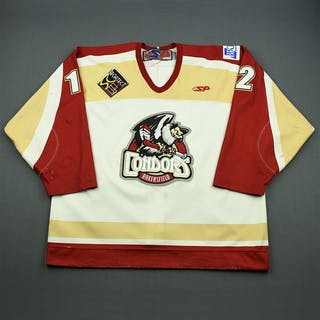 Roussin, Dany White Set 1 Bakersfield Condors 2008-09 #12 Size: 56