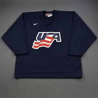 Booth, David * Blue, U.S. Olympic Men's Orientation Camp Worn Jersey