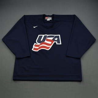 Brown, Dustin * Blue, U.S. Olympic Men's Orientation Camp Worn Jersey