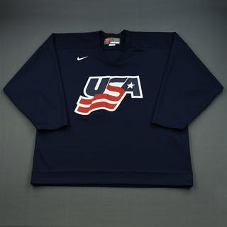 Drury, Chris * Blue, U.S. Olympic Men's Orientation Camp Worn Jersey