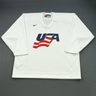 Drury, Chris * White, U.S. Olympic Men's Orientation Camp Issued Jersey