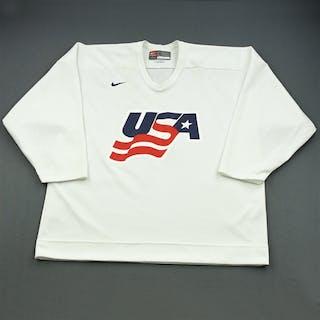 Gilbert, Tom * White, U.S. Olympic Men's Orientation Camp Worn Jersey
