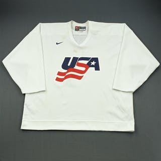 Gleason, Tim * White, U.S. Olympic Men's Orientation Camp Worn Jersey