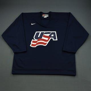 Gleason, Tim * Blue, U.S. Olympic Men's Orientation Camp Issued Jersey