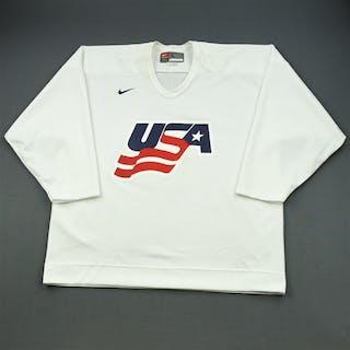 Hainsey, Ron * White, U.S. Olympic Men's Orientation Camp Worn Jersey