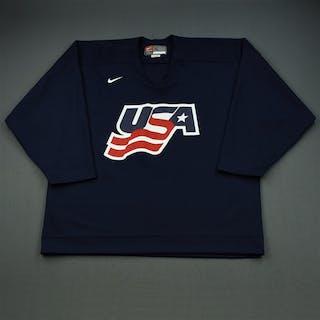 Langenbrunner, Jamie * Blue, U.S. Olympic Men's Orientation Camp Worn