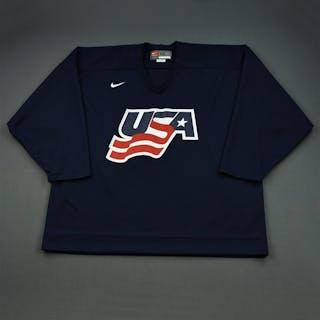 Malone, Ryan * Blue, U.S. Olympic Men's Orientation Camp Worn Jersey