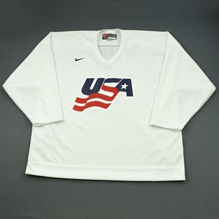 Malone, Ryan * White, U.S. Olympic Men's Orientation Camp Issued Jersey