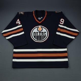 Comrie, Mike Blue Set 1 Edmonton Oilers 2000-01 #49 Size: 56