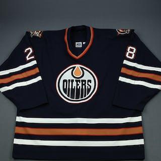 Semenov, Alexei Blue Set 1 Edmonton Oilers 2000-01 #28 Size: 58