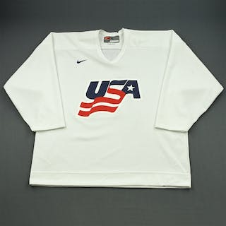 Suter, Ryan * White, U.S. Olympic Men's Orientation Camp Worn Jersey