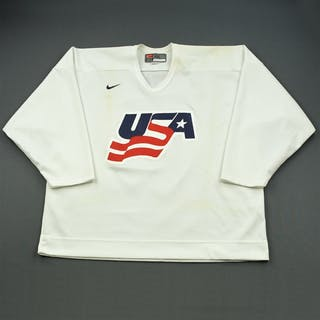 Whitney, Ryan * White, U.S. Olympic Men's Orientation Camp Worn Jersey