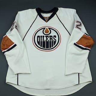 Jacques, Jean-Francois White Set 1 Edmonton Oilers 2009-10 #22 Size: 58+