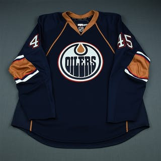Wild, Cody Third Set 1 - Game-Issued (GI) Edmonton Oilers 2009-10 #45 Size: 58