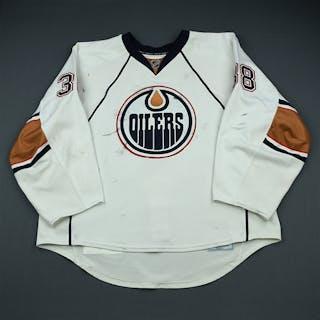 Deslauriers, Jeff White Set 2 Edmonton Oilers 2009-10 #38 Size: 58G