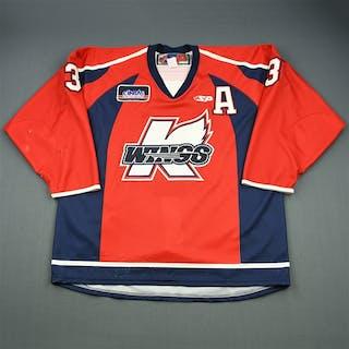 Mason, Jeff Red Set 1 w/A Kalamazoo Wings 2009-10 #3 Size: 56