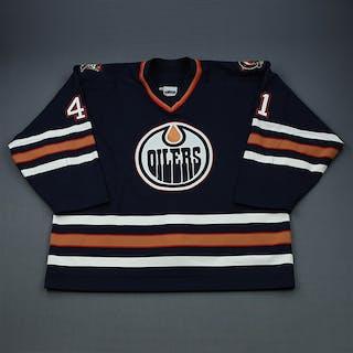 Hajt, Chris Blue Set 1 Edmonton Oilers 2001-02 #41 Size: 58