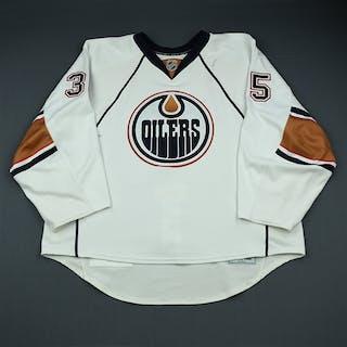 Khabibulin, Nikolai White Set 2 Edmonton Oilers 2009-10 #35 Size: 58G