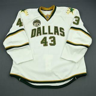 Oleksiak, Jamie White Set 2 w/ 20th Anniversary Patch Dallas Stars 2012-13 #43