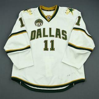 Roy, Derek White Set 1 w/ 20th Anniversary Patch Dallas Stars 2012-13 #11