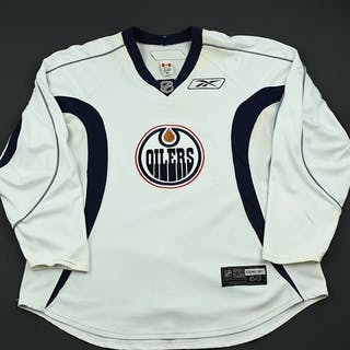 Reebok Edge White Practice Jersey Edmonton Oilers 2008-09 #N/A Size: 60
