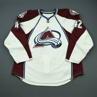 Malone, Brad White Set 2 - Game-Issued (GI) Colorado Avalanche 2011-12