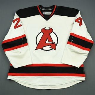 Gelinas, Eric White Albany Devils 2012-13 #24 Size: 58