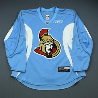 Reebok Light Blue Practice Jersey Ottawa Senators 2009-10 #N/A Size: 54