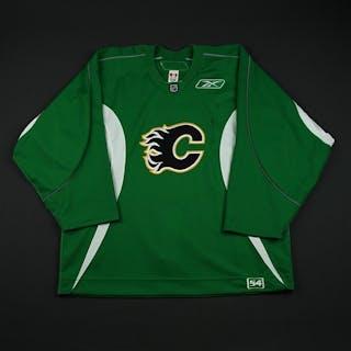 Reebok Green Practice Jersey Calgary Flames 2008-09 #NA Size: 54
