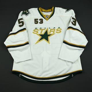 Roman, Ondrej White Set 1 - Game-Issued (GI) Dallas Stars 2008-09 #53 Size: 56