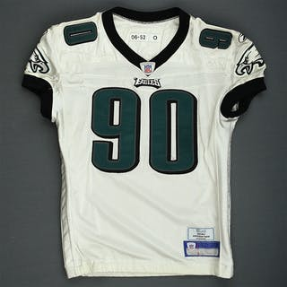 Howard, Darren White Philadelphia Eagles 2006 #90 Size: 52-O