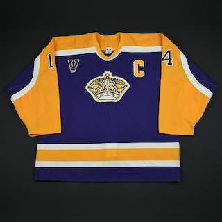 Norstrom, Mattias * Purple Vintage w/C Los Angeles Kings 2003-04 #14 Size: 58