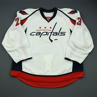 Iafrate, Max White Set 1 - Game-Issued (GI) Washington Capitals 2012-13