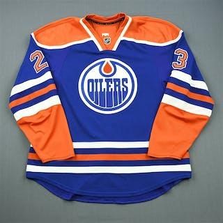 Omark, Linus Blue Retro Set 1 Edmonton Oilers 2011-12 #23 Size: 56