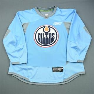 Reebok Blue Reebok Practice Jersey Edmonton Oilers 2011-12 #NA Size: 58+