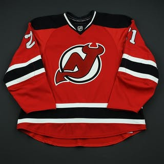 Tallackson, Barry Red Set 2 - Game-Issued (GI) New Jersey Devils 2008-09