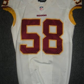 Hull, Josh White Washington Redskins 2013 #58 Size:40 L-BK
