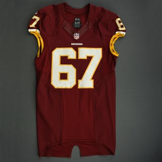 LeRibeus, Josh Burgundy Washington Redskins 2013 #67 Size: 46 LINE