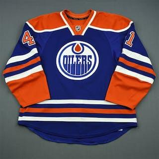 Acton, Will Blue Retro Set 1, NHL Debut Edmonton Oilers 2013-14 #41 Size: 56