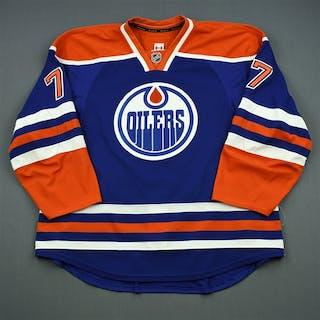 Belov, Anton Blue Retro Set 1, NHL Debut Edmonton Oilers 2013-14 #77 Size: 58+