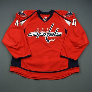 Wellman, Casey Red Set 1 - Game-Issued (GI) Washington Capitals 2013-14