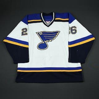 Cajanek, Petr * White Preseason St. Louis Blues 2002-03 #26 Size: 54