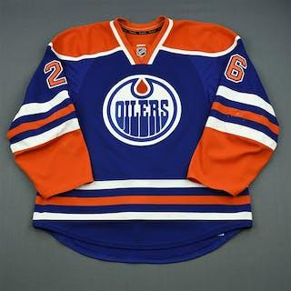 Arcobello, Mark Blue Retro Set 2 Edmonton Oilers 2013-14 #26 Size: 56