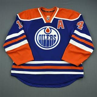 Eberle, Jordan Blue Retro Set 3 w/A Edmonton Oilers 2013-14 #14 Size: 56
