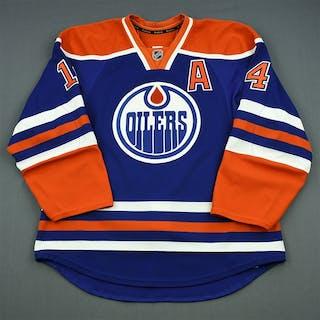 Eberle, Jordan Blue Retro Set 3 w/A Edmonton Oilers 2013-14 #14 Size: 54