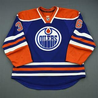 Larsen, Philip Blue Retro Set 1 Edmonton Oilers 2013-14 #36 Size: 56