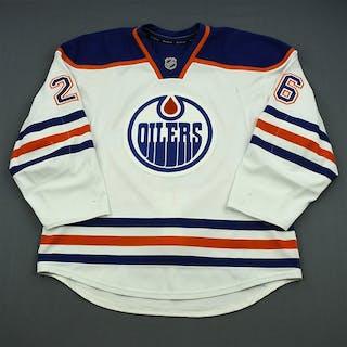 Arcobello, Mark White Retro Set 2 Edmonton Oilers 2013-14 #26 Size: 56