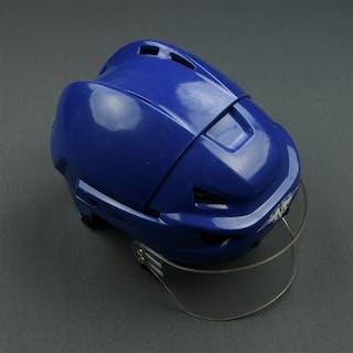 Pock, Thomas Blue Mission Helmet w/ shield New York Rangers 2007-08 #22