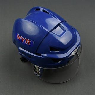 Backman, Christian Blue Mission Helmet w/ shield New York Rangers 2007-08 #55